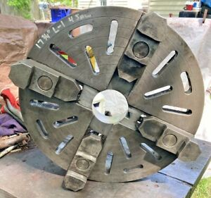 """17-3/4"""" INDEPENDENT 4-JAW METAL LATHE CHUCK w/ L1 MOUNT"""