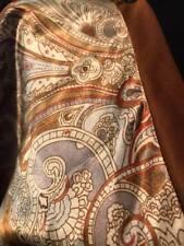NWT Satin Kimono Dress L Large Gold Grey Empire Waist Tie Back Washable HOT!