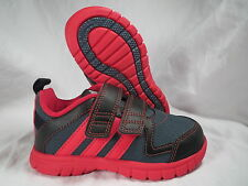 ADIDAS STA FLUID 3 CF I BLACK/RED BABY/TODDLER BOYS/GIRLS SHOES SIZE 4