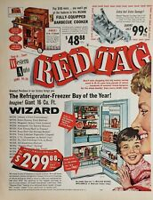 Lot of 3 Vintage 1960's Western Auto Print Ads Red Tag Sale April Tire