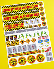 RC ZOMBIE OUTBREAK RESPONSE TEAM stickers decals Ideal for Tamiya Lunch Box