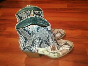 Sugar Tarrah Bootie Womens Snake Skin Pattern Ankle Boots Size 6 M MSRP $50