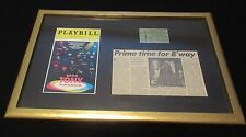 MATTED & FRAMED 1994 TONYS PLAYBILL, TICKET STUB,  NEWSPAPER ARTICLE.