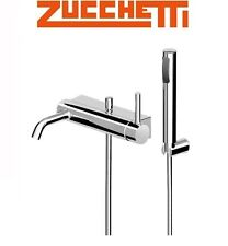 "Zucchetti ""Pan"" Wall Mounted Bath & Shower Mixer w/Diverter & HandShower Set NIB"