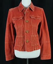 Tulle Juniors Size L Jacket Corduroy Stretch Orange Style Fashion Cordoroy Large
