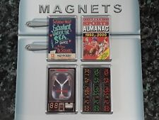 Back to the Future Fridge Magnet Magnet Set. 4 Pieces. Flux Capacitor