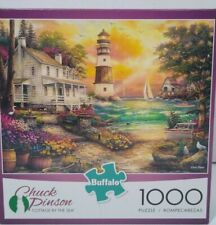Buffalo Jigsaw Puzzle 1000 piece Cottage by the Sea Chuck Pinson
