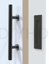 Stainless Steel Rustic Black Sliding Barn Door Handle Wood door handle and pull