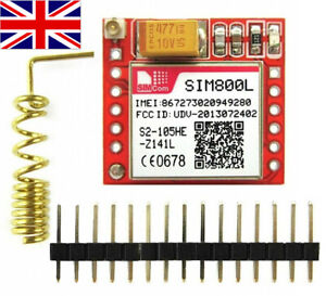 SIM800L GSM GPRS Quad band Module TTL Serial port. New UK Stock +Antenna/Header