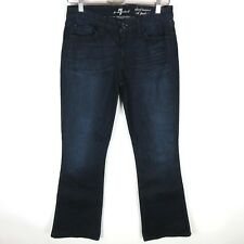 7 FOR ALL MANKIND A Pocket Short Inseam Flare Jeans Size 29 x 33 Rich Dark Reef