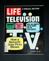LIFE MAGAZINE SEPTEMBER 10 1971 TELEVISION FIRST 25 YEARS