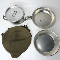 Vintage BSA National Council Mess Kit with Case and Additional Bonus Pot w/ Lid