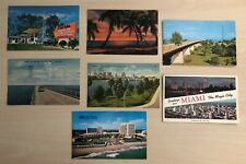 Lot of 7 Florida Vintage Postcards Florida Keys Highway Miami Beach Tampa