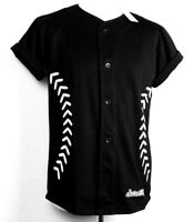 SCARCEWEAR MEN'S BLACK BASEBALL JERSEY WHITE STITCHED SHIRT TOP SIZE S TO 4XL
