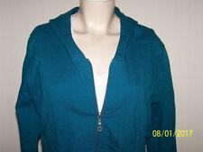 Unifarbene Damen-Kapuzenpullover & -Sweats mit Reißverschluss in Größe XL