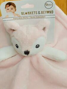 "Blanket Beyond Security Fox Pink Fleece NWT 10"" Sq. Nunu Adorable Girl Soft"