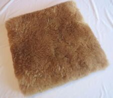 100% BROWN ALPACA  Natural Fur Pillow Cover Handmade PERU Shipped from USA
