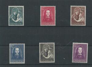 Postage Stamps Luxembourg 1950 433/438 Emis profit des pupilles de la nation MNH