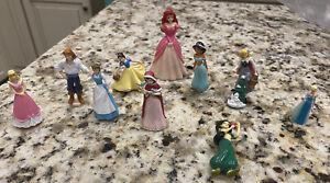 Lot Of 10 Classic Disney Princess Prince Mini Figures Cake Toppers? Ariel Jasmin