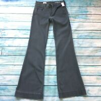 """Gap 1969 Womens Jeans size 4 Extra Long Tall x38"""" new Gray Flared Cotton Stretch"""