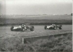 1967 British Grand Prix photograph - Graham Hill and Jim Clark - Lotus Ford 49