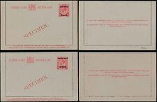 SOUTH WEST AFRICA 1923 KG5 STATIONERY LETTERCARDS ENGLISH + AFRIKAANS SPECIMENS