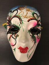 New Orleans Mardi Gras Ceramic Face Mask Multicolor womens red lipstick