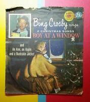 VINTAGE 1950's GOLDEN RECORDS 78 RPM BING CROSBY - CHRISTMAS - BOY at the