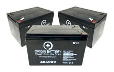 Mongoose Hg1000 Bike Battery Kit - 3 Pack 12V 12Ah Sla Agm