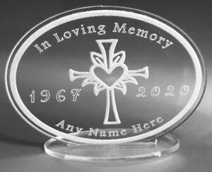 Memorial Personalised Gift Acrylic Gift Engraved In Loving Memory