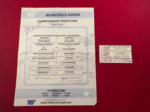 WWF WWE Match Card November 15th 1985 Ticket Stub Hulk Hogan Macho Man Dragon