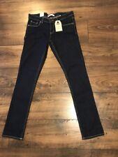 Youth Girls Levi's 711 Skinny Fit  Jeans Size 16 Reg Dark Adjustable Waist