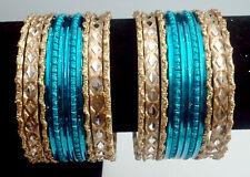 2.6 Indian Pakistani Bride Women's Jewelry Dance Bracelet Bangles 24Pc #374