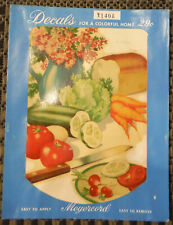 Vintage Meyercord Decals x140A Tomato Cucumber Carrots Bread Kitchen