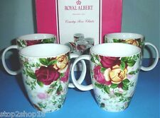 Royal Albert COUNTRY ROSE CHINTZ Mug Set of 4 Boxed NEW