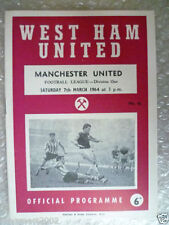 Division 1 Teams S-Z West Ham United Football Programmes