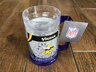 NFL Minnesota Vikings 2 Logos on Crystal Freezer Mug Purple Handle Duck House photo