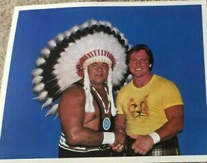 RARE ORIGINAL COLOR WAHOO MCDANIEL PIPER MID ATLANTIC WRESTLING NWA POSTER WWE
