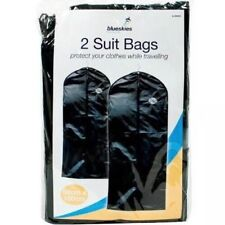 New 2 Travel Suit Bags Hanging Zip Up Coat Dress Garment Cover Clothes Protector