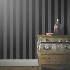 GLITTERATI BLACK GLITTER STRIPE WALLPAPER - ARTHOUSE 892500 NEW