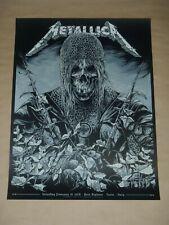 Metallica Ken Taylor Turin Italy concert poster screen print gig art