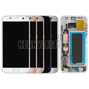 For Samsung Galaxy S7 G930F LCD Display Touch Screen Digitizer+Frame+Cover+Tool