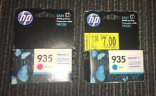 HP HEWLETT PACKARD 935 MAGENTA RED  & CYAN BLUE PRINTER INK NEW IN BOX