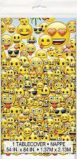 "Emoji 84"" x 54"" 1X Plastic Table Cover Birthday Party Supplies Decoration"