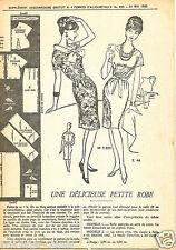 Une Délicieuse Robe de  Mai 1962. Taille 44. Vintage. Patron Neuf non découpé.