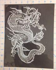 Chinese Dragon mylar reusable stencil 10 mils for Airbrush design art & craft