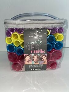 Conair Curls Curls Curls Magnetic Rollers 36 Pieces Pink/Teal/Yellow/Purple