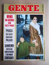 GENTE n°6 1969 Mina in guerra con Patty Pravo - Fstival di Sanremo   [G685B]