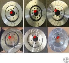 PEUGEOT 406 COUPE 3.0 Drilled Grooved Brake Discs FR RR