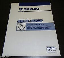 Werkstatthandbuch Wiring Diagram Manual Elektrik Suzuki Carry GA 413 01/1999